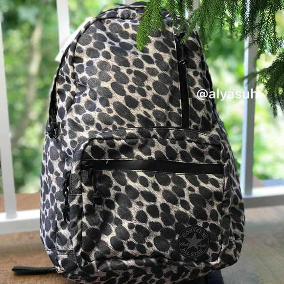 NWT Converse CTAS GO Backpack Leopard W AUTHENTIC 103ca8f9619e9